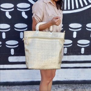 Gorgeous Metallic Gold tote bag by Pink Haley!